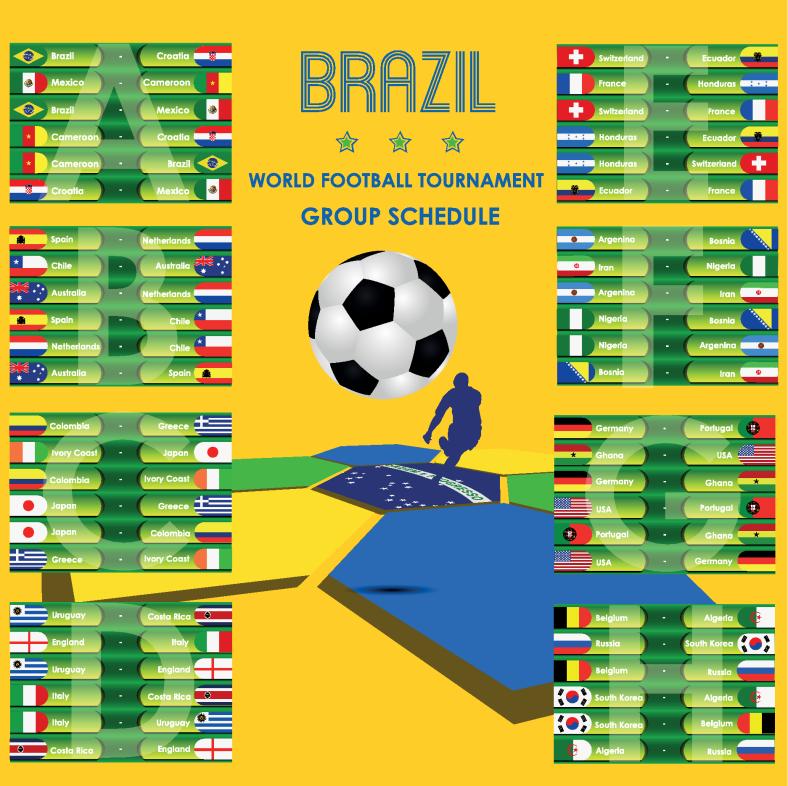 Fixture Chart World Cup 2014